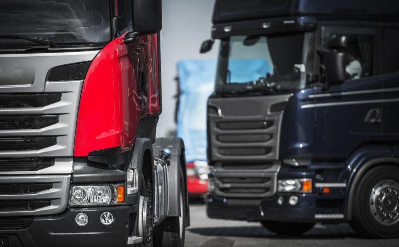 Semi trucks heavy machinery